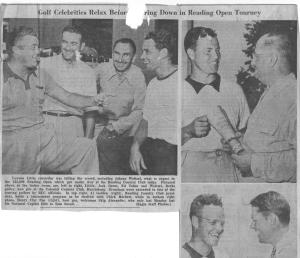 Pre-tournament frivolity in 1949 at the Reading (PA) Country Club during that year's $15,000 Reading Open.