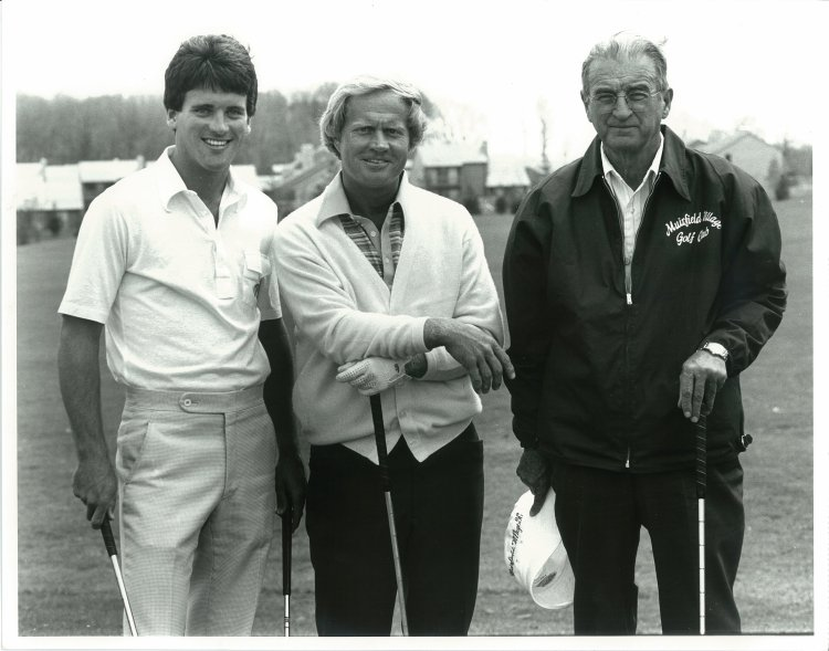 The Big Three in 1978 on the practice tee at Muirfield Village Golf Club in Dublin, Ohio.